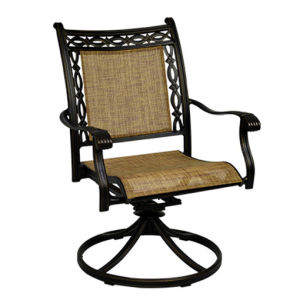 Commercial Furniture Hotel Bar Chair Metal Bar Stool with Swivel Sling Back Outdoor/Indoor Use pictures & photos