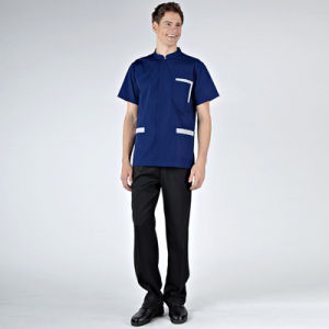 China OEM Print Scrub Top/Top Scrub Suits/Printed Medical Scrub Tops for Hospital Staff Uniforms pictures & photos