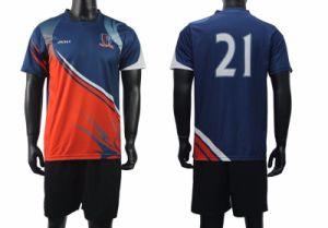 100% Polyester O Neck Men′s Soccer Uniforms pictures & photos