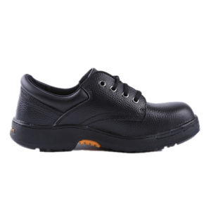Rubber Outsole Embossed Leather Safety Shoes