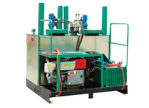 Double Cylinder Hydaulic Preheater Furnace for Thermoplastic Road Marking Paint