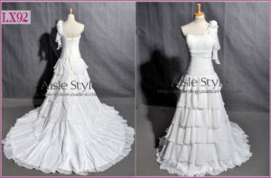 Gorgeous Cascading Ruffle Wedding Dress (LX92)