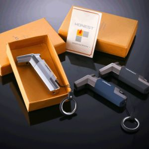 Honest Windproof Stainless Steel Butane Torch Lighter Key Ring (ES-EB-069) pictures & photos