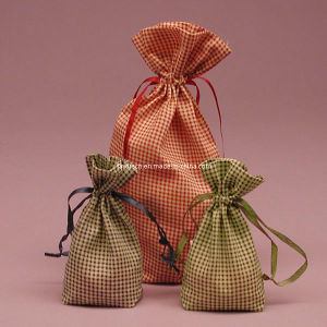 Fashion Gingham Cotton Gift Bag of Rice pictures & photos