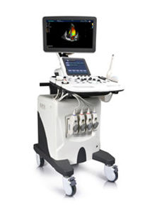 High Class Color Doppler Ultrasound Trolley Scanner with Certificates pictures & photos