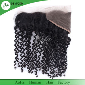 Raw Virgin Brazilian Hair Deep Wave Hair Frontal 13X4 Wholesale pictures & photos