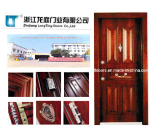 Luxury Turkish Style Steel Wooden Armored Door pictures & photos
