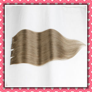 High Quality Brown Color Tape Hair Extensions Silky 24inch pictures & photos
