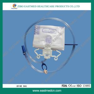 Disposable Urine Bag/Drainage Bag with Cross Valve pictures & photos