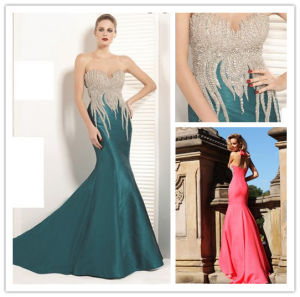 High Quality Sexy Mermaid Empire Waist Sweetheart with Beaded Zipper Back Floor Length Ebay Evening Dresses (HS080) pictures & photos
