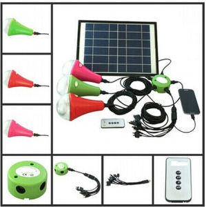 Solar Panel Light with 3PCS Solar Lamp pictures & photos