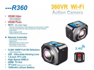 Vr360 Helmcamera 220 Degree WiFi Remote Controller Sport Action Camera pictures & photos