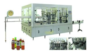 Automatic Hot Fruit Juice Beverage Bottling Filling Machine