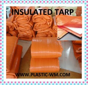 6ftx25FT Orange Cover 8X8mesh Insulated Tarp pictures & photos