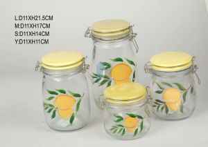 China Supplier New Fasion Glass Food Storage Jar, Glass Sealing Bottles for Factory Wholesale pictures & photos