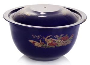 2015 High Grade Enamel Bowls with Cover pictures & photos