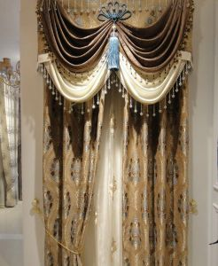 Chenille Jacquard Curtain Decoration Curtain (KS-162) pictures & photos