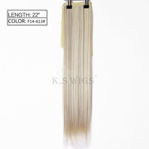 New Arrival Japanese Kanekalon Synthetic Ponytail Hair Extension pictures & photos