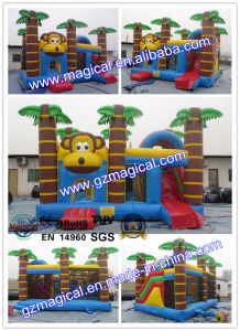 Monkey Bouncy Castle with Slide Combo for Kids Party pictures & photos