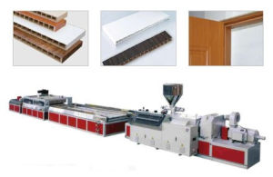 Wood Plastic Hollow Plate Extrusion Line pictures & photos