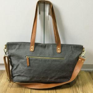 Personalized Vintage Ladies Waxed Canvas Handbag Shoulder Bag pictures & photos