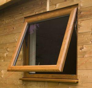 High Standard Woodgrain UPVC Awning Window (BHP-WA10) pictures & photos