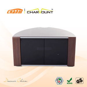 High Quality MDF & Tempered Glass Universal Plasma TV Stand (CT-FTVS-D110L) pictures & photos