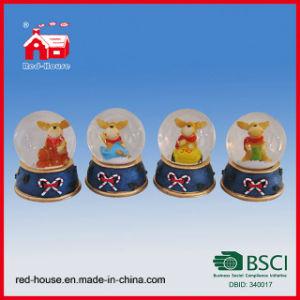 Polyresin Christmas Deer Water Ball Snow Globe for Christmas Gifts