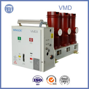 12kv-2500A Vmd High-Voltage 3 Phase Electric Vacuum Breaker with Embedded Pole pictures & photos