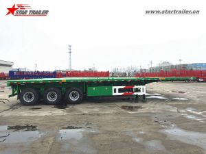 3axles Platform Cargo Trailer for Truck pictures & photos