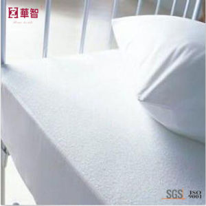 Terry Farbic with PU Waterproof Bed Fitted Sheet pictures & photos