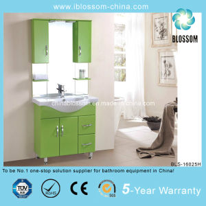 Health Material Green Color Bathroom Cabinet (BLS-16025H) pictures & photos