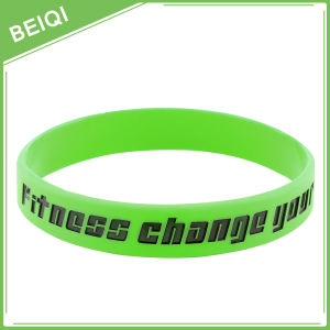 Debossed Colorfilled Personalized Wristband, Personalized Colorfilled Silicone Bracelet,  Beiqi Factory pictures & photos