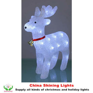 Acrylic Deer LED Battery Lights Christmas Holiday Party Decoration pictures & photos
