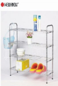 Adjustable Chrome Metal Bathroom Shelf (CJ603090B4C) pictures & photos