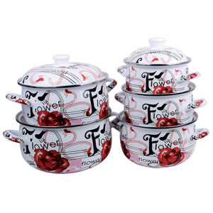 5 PCS Enamel Cookware Set pictures & photos