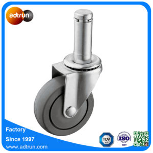 """65kg Bearing Capacity 7/8"""" Grip Ring Stem PU Casters pictures & photos"""