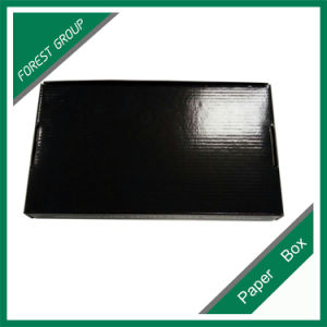 Corrugated Black Box Shipping Box with Logo Printing pictures & photos