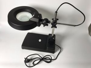 High Quality ESD Black Round Lens Illuminated Magnifier pictures & photos