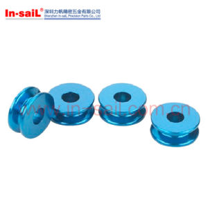 OEM Aluminium Pulley with Blue Anodized pictures & photos