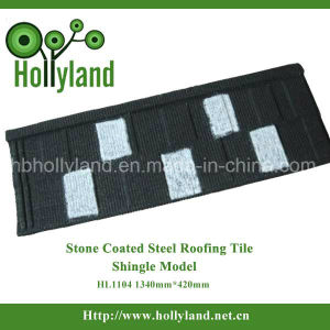 Decorative Material Stone Coated Steel Roofing Tile Sheet (Shingle Type) pictures & photos