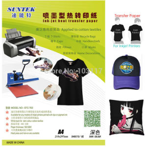 Suntek Tension Dark Eco Solvent Heat Transfer Paper pictures & photos