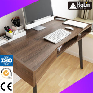 Walnut Wooden Computer Desk for Home Office Furniture pictures & photos
