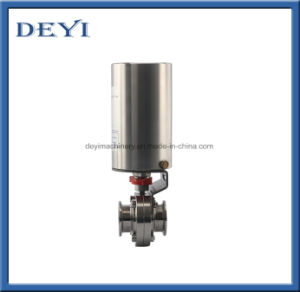 SS304 Sanitary Pneumatic Welding Butterfly Valve pictures & photos