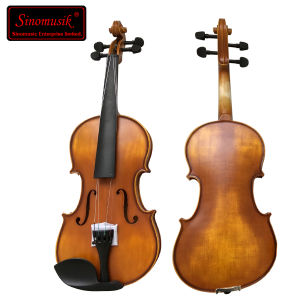 Purflied Inlaid Dark Red Brown Solid Musical Instrument Violin pictures & photos