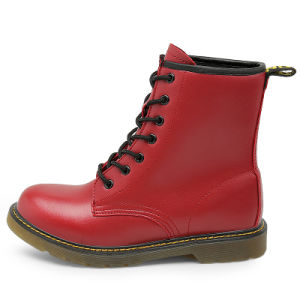 Boot Red for Girls Shoes Sales Nonsexual Martin Boots Plus Imitation Lesther Shoes pictures & photos