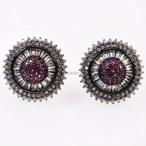 Fashion Style Brass Jewelry Plated Bead Ear Stud (KE3152) pictures & photos