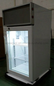 50L Mini Countertop Display Freezer with 3 Layer Glass Door Mini Freezer for Chocolate Display Freezer pictures & photos