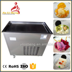 Thailand Style Commercial Single Flat Pan Fried Ice Cream Roll Machine pictures & photos