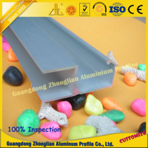 Aluminum Sliding Door Profile Extrusion with Anodized Silver Surface pictures & photos
